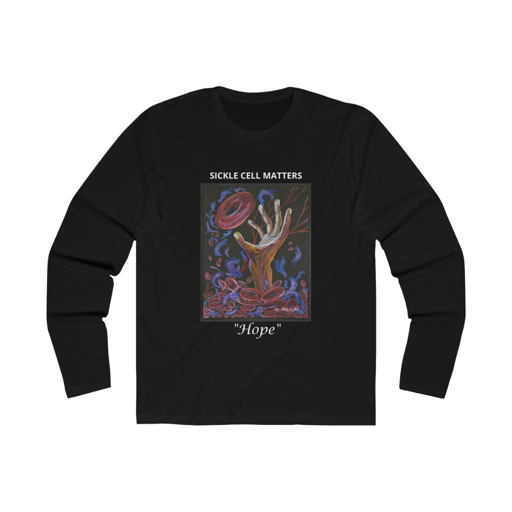 The Sickle Cell Warrior 2019 Special Edition T-shirts (Men's Long Sleeve Crew Tee)