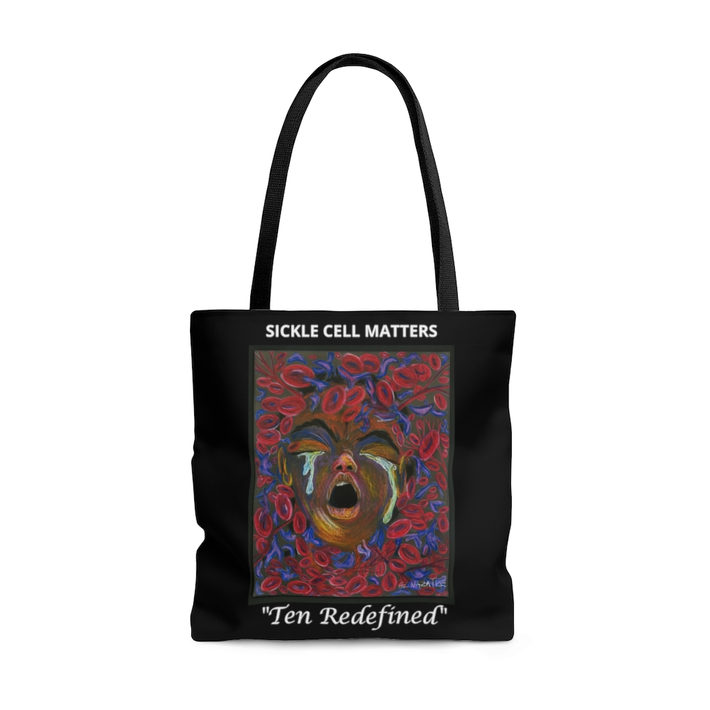 """The Sickle Cell Warrior 2019 Special Edition Tote Bag """"Ten Redefined"""""""