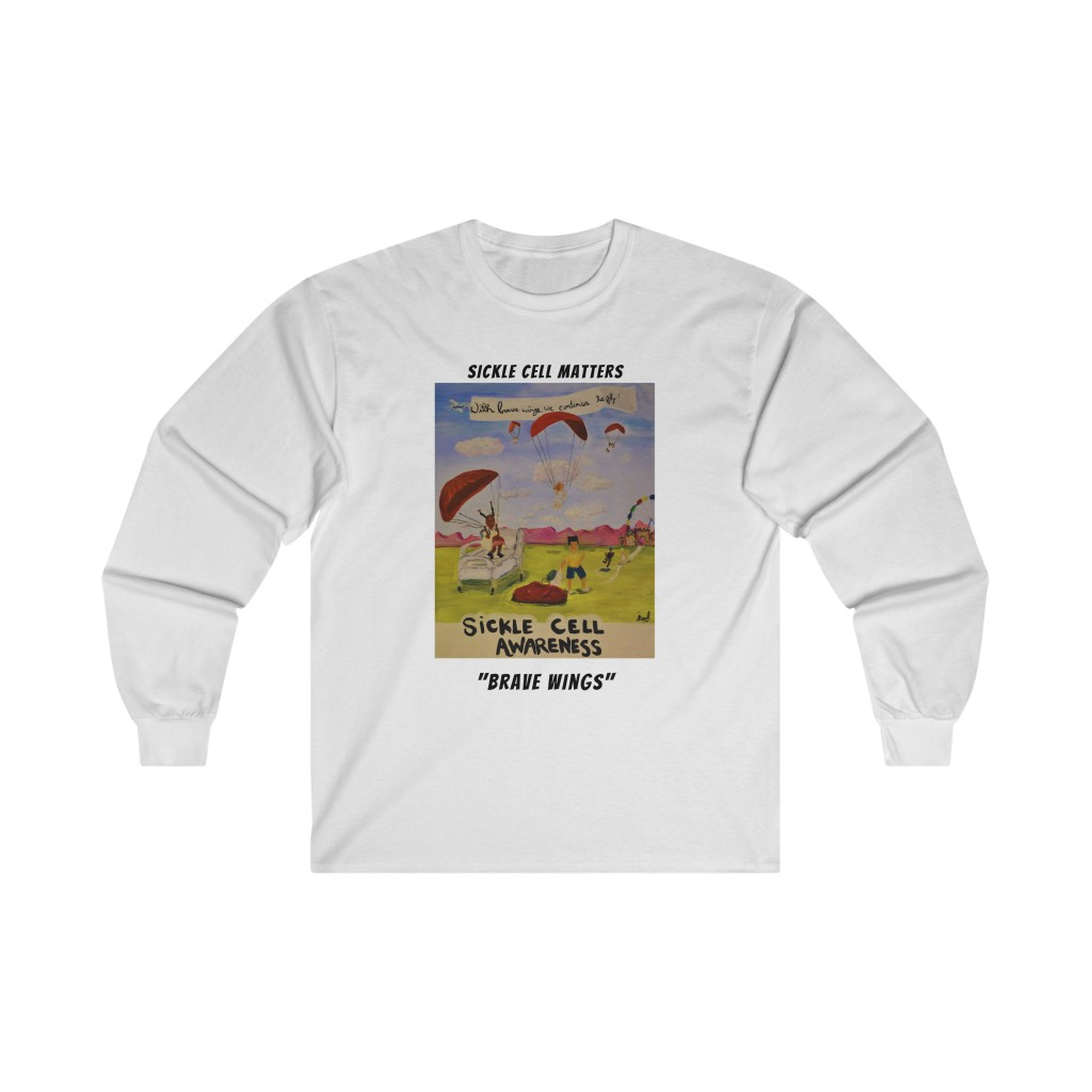 The Sickle Cell Warrior 2021 Special Edition – Brave Wings (Long Sleeve Crew Tee)