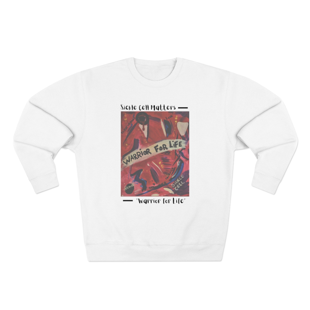 The Sickle Cell Warrior 2021 Special Edition: Warrior For Life (Unisex Heavy Blend™ Crewneck Sweatshirt)