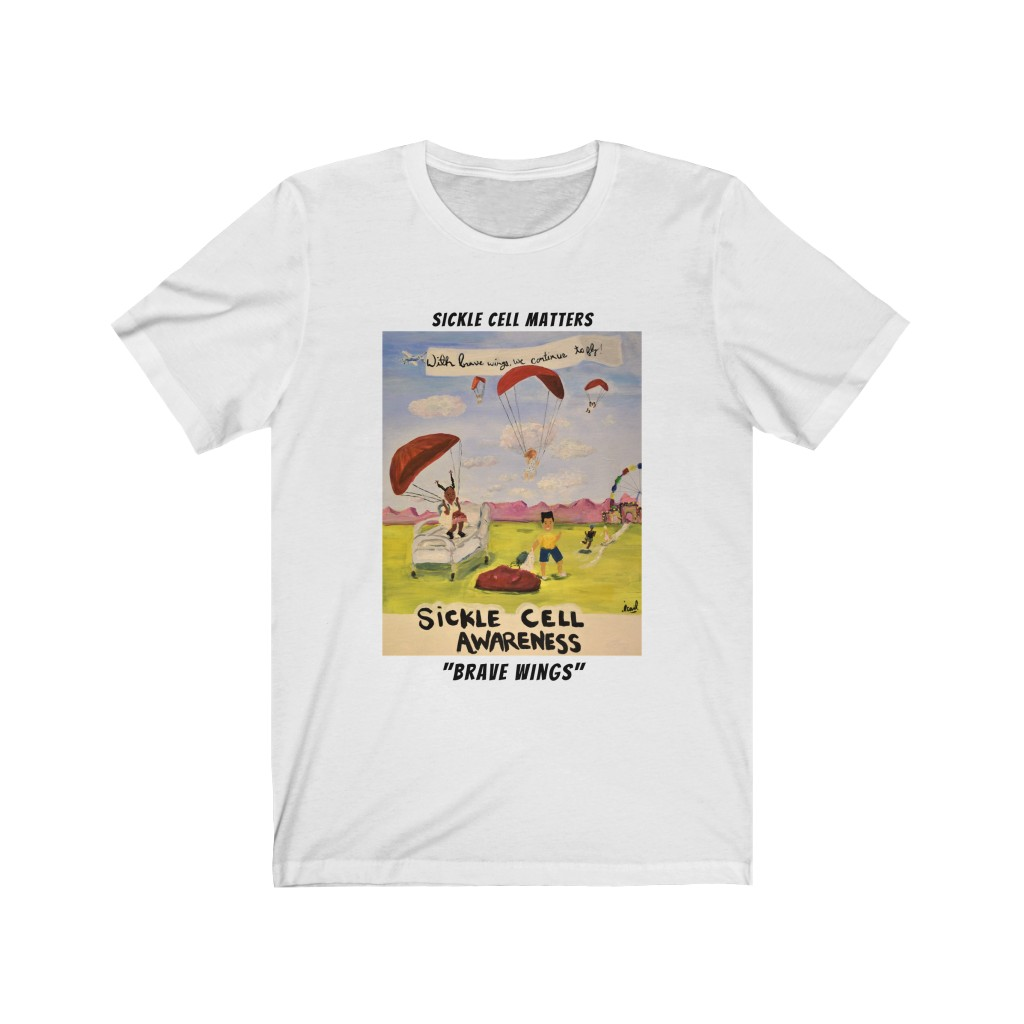 The Sickle Cell Warrior 2021 Special Edition T-shirts: Brave Wings (Unisex Jersey Short Sleeve Tee)