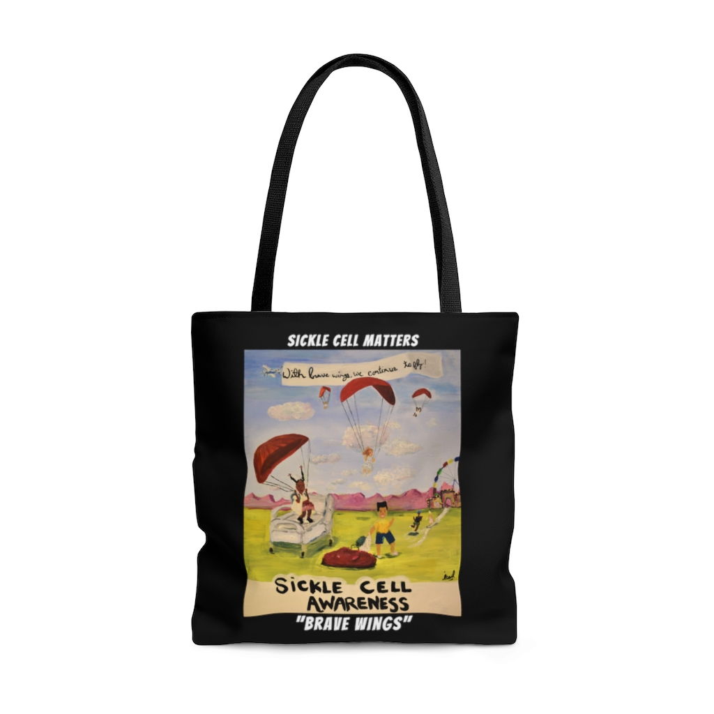 """The Sickle Cell Warrior 2021 Special Edition Tote Bag """"Brave Wings"""""""
