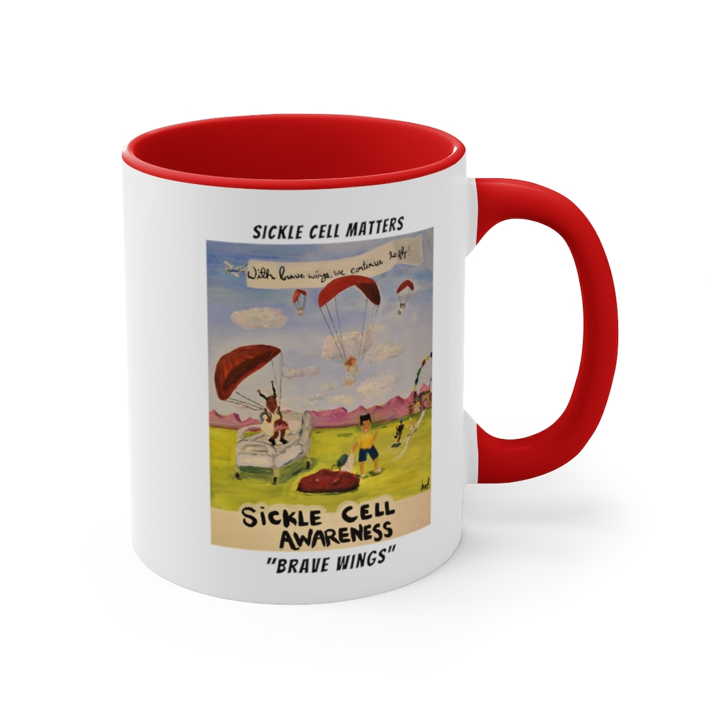 The Sickle Cell Warrior 2021 Special Edition Mugs: Brave Wings – Accent Coffee Mug, 11oz